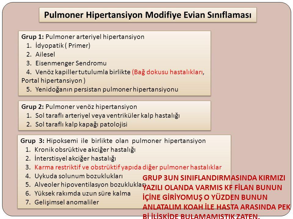 Pulmoner Hipertansiyon Modifiye Evian Sınıflaması