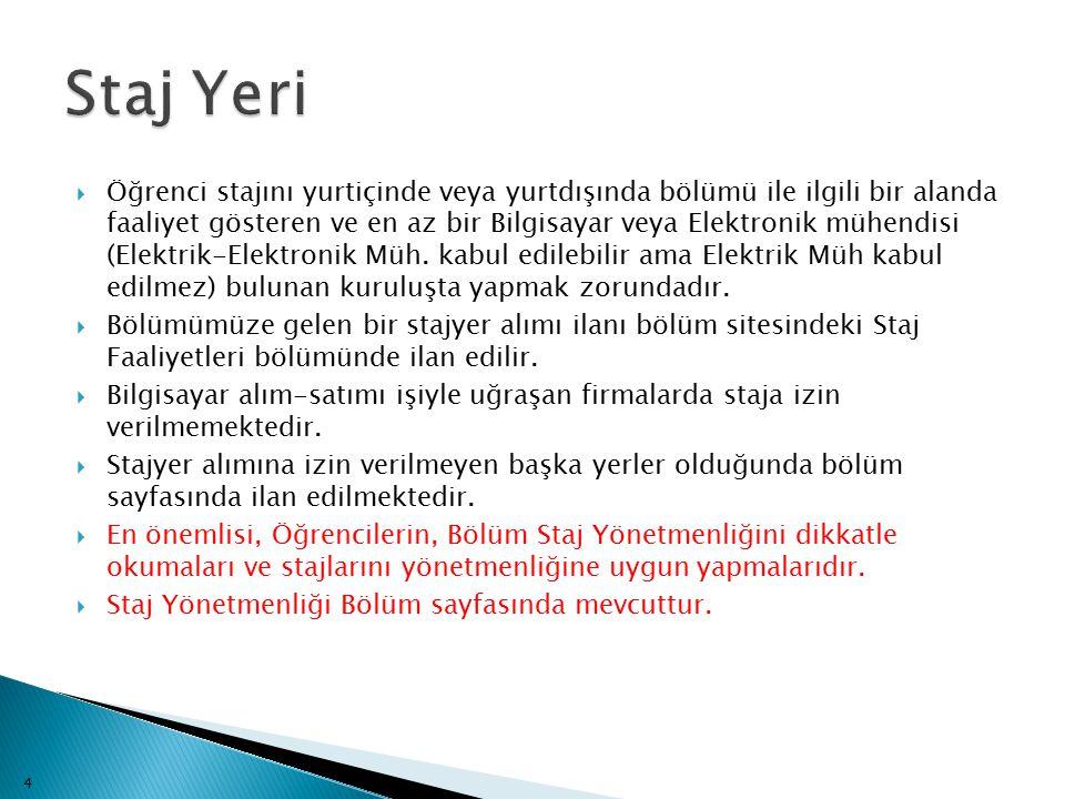 Staj Yeri
