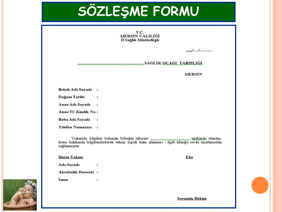 SÖZLEŞME FORMU AÇSAP Şube Müdürlüğü -2011