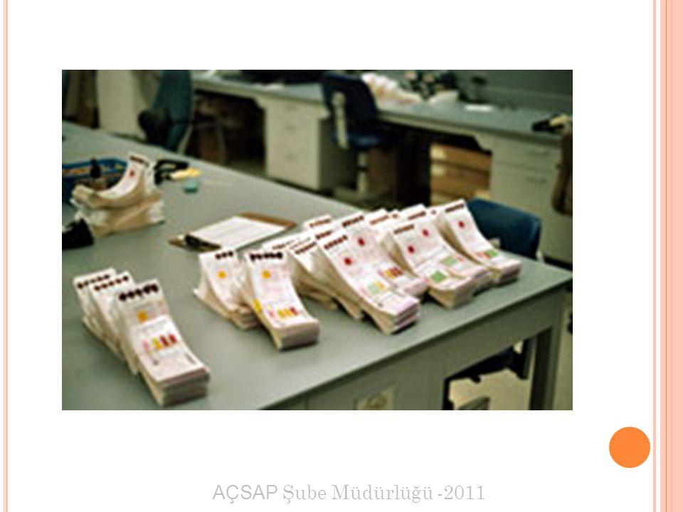 AÇSAP Şube Müdürlüğü -2011