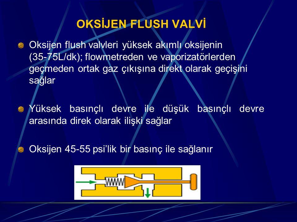 OKSİJEN FLUSH VALVİ