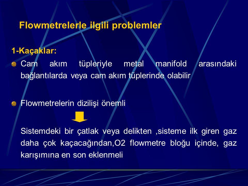 Flowmetrelerle ilgili problemler
