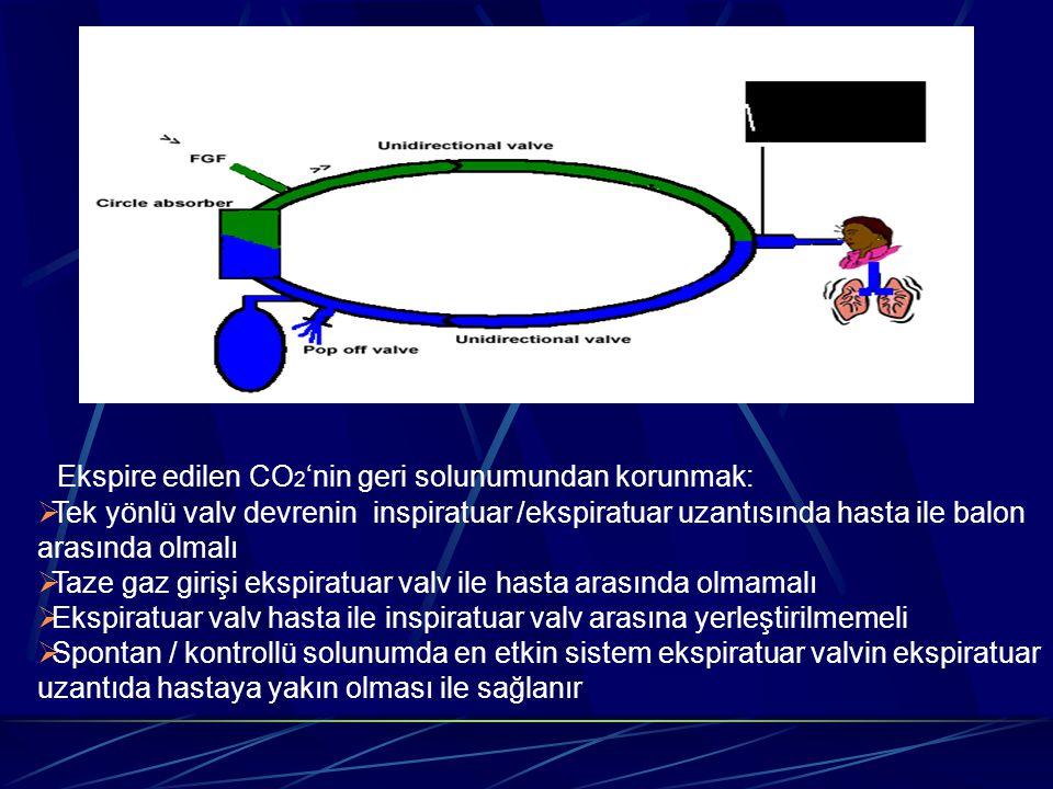 Ekspire edilen CO2'nin geri solunumundan korunmak: