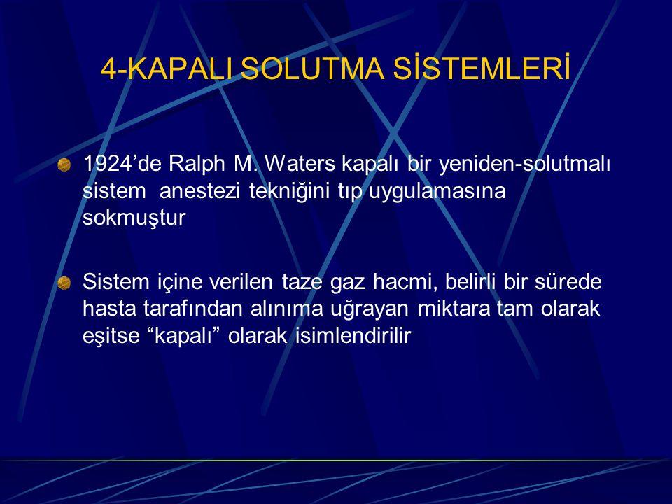 4-KAPALI SOLUTMA SİSTEMLERİ