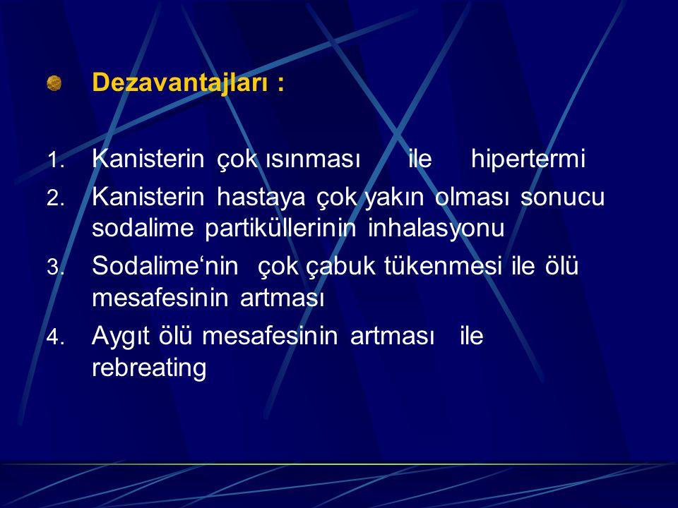 Dezavantajları : Kanisterin çok ısınması ile hipertermi.