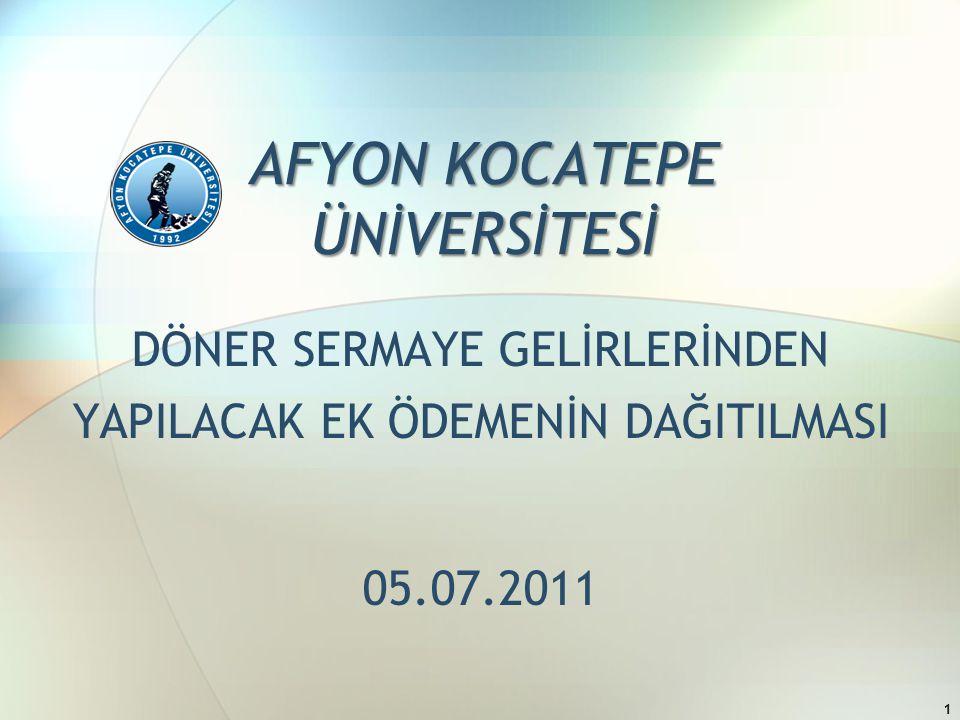 AFYON KOCATEPE ÜNİVERSİTESİ