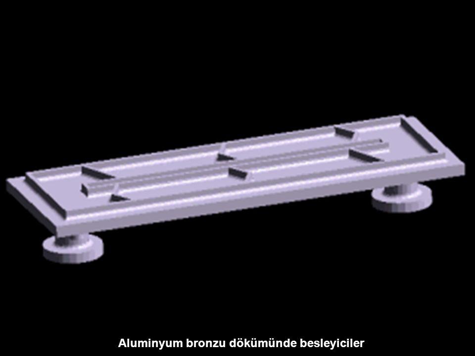 Aluminyum bronzu dökümünde besleyiciler