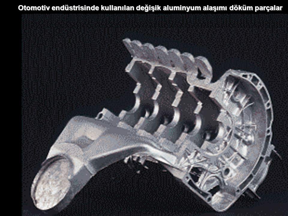 Otomotiv endüstrisinde kullanılan değişik aluminyum alaşımı döküm parçalar