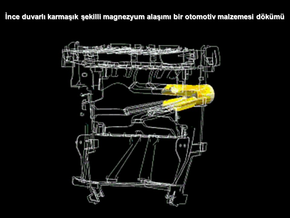 İnce duvarlı karmaşık şekilli magnezyum alaşımı bir otomotiv malzemesi dökümü