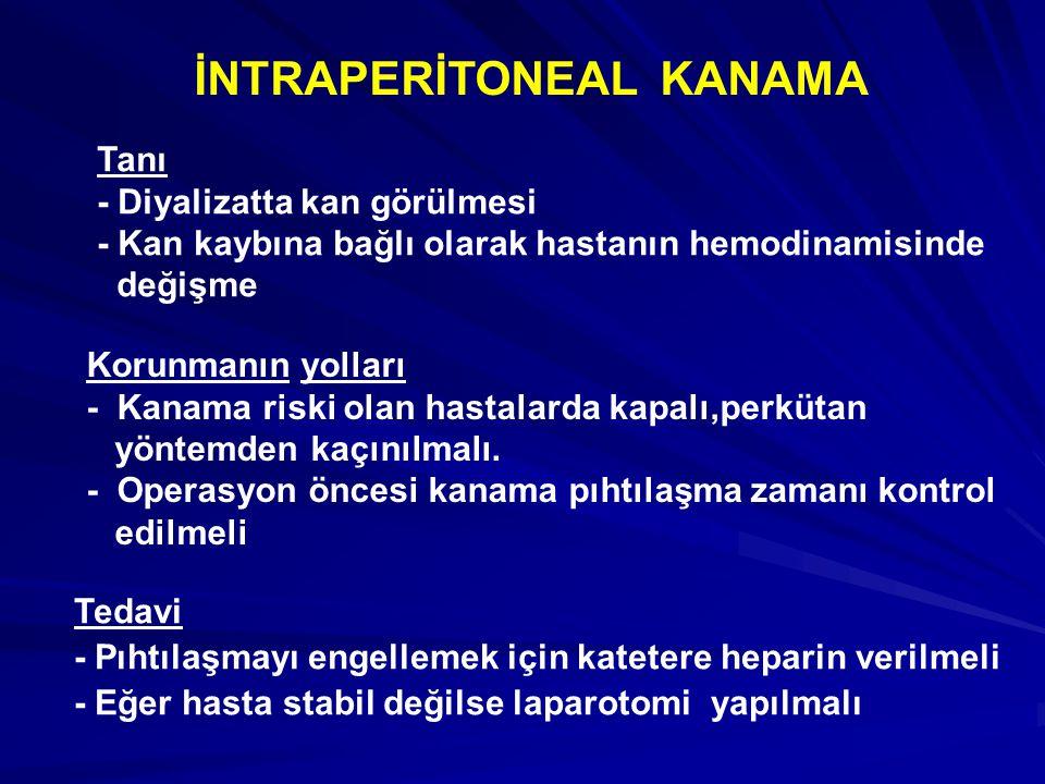 İNTRAPERİTONEAL KANAMA