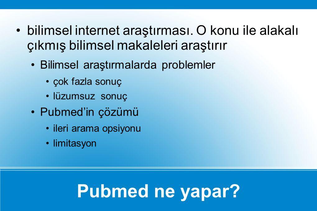 bilimsel internet araştırması