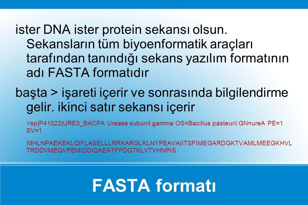 ister DNA ister protein sekansı olsun