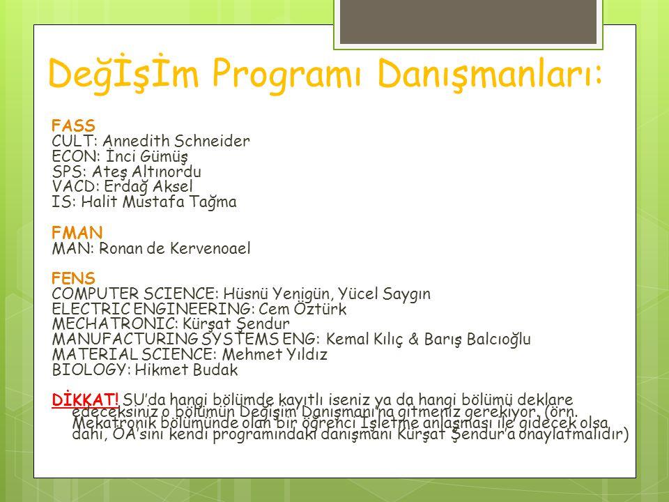Değİşİm Programı Danışmanları: