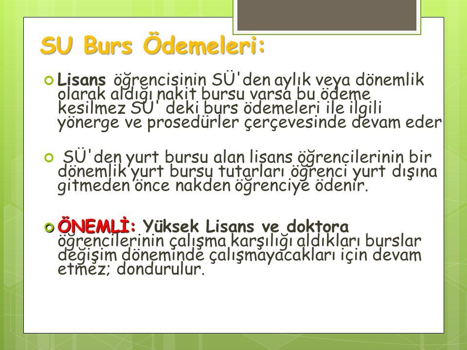 SU Burs Ödemeleri: