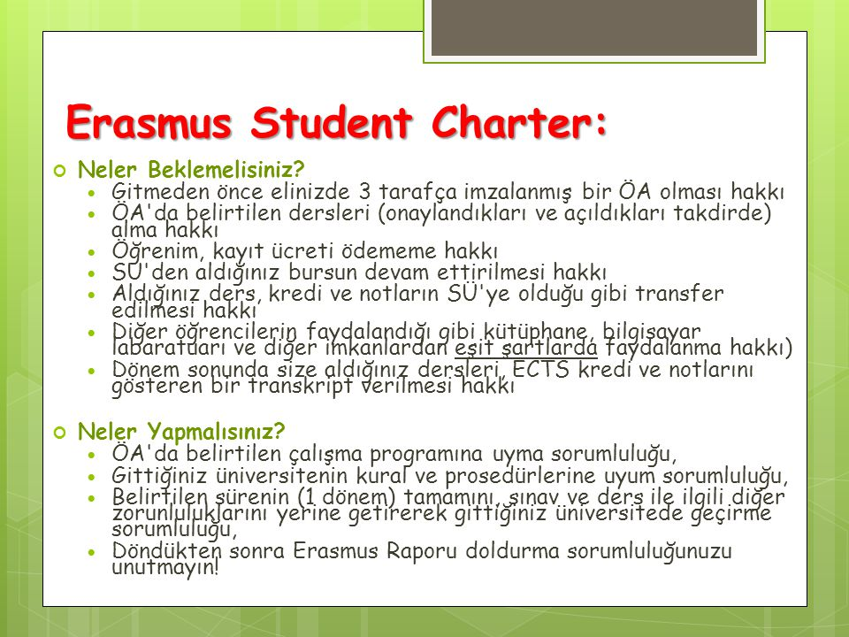 Erasmus Student Charter: