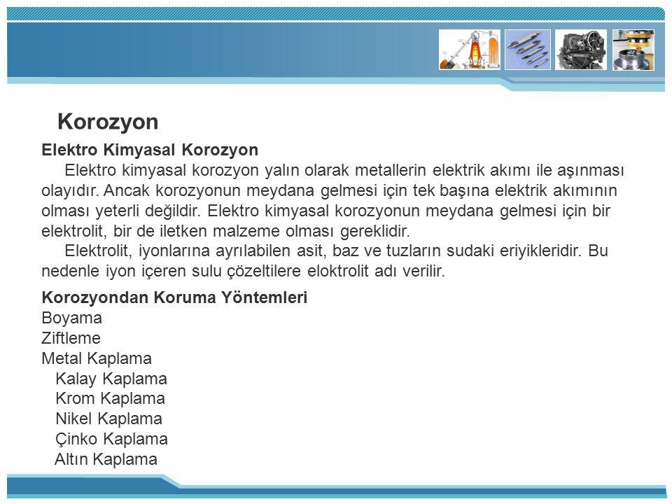 Korozyon Elektro Kimyasal Korozyon