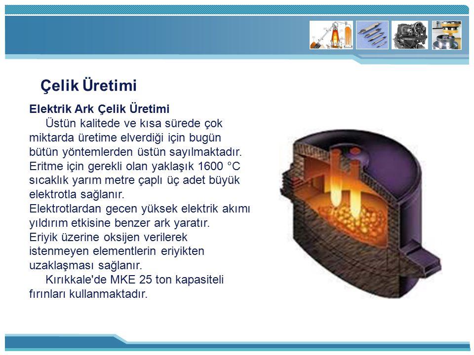 Çelik Üretimi Elektrik Ark Çelik Üretimi