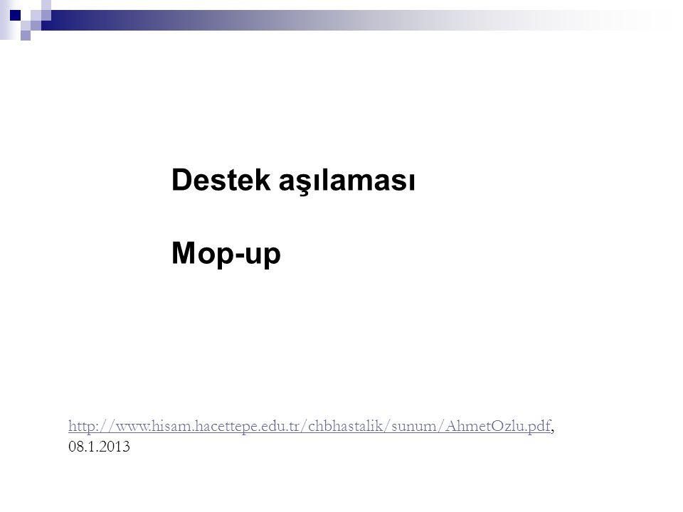 Destek aşılaması Mop-up