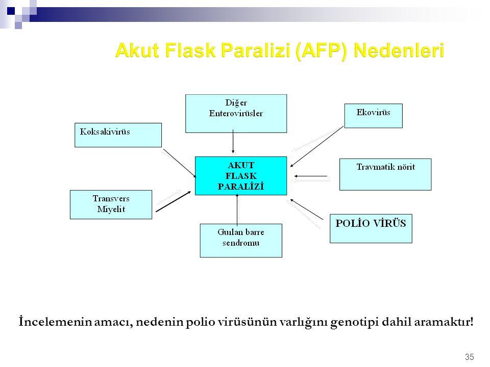 Akut Flask Paralizi (AFP) Nedenleri