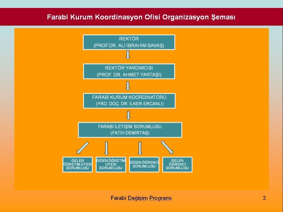 Farabi Kurum Koordinasyon Ofisi Organizasyon Şeması