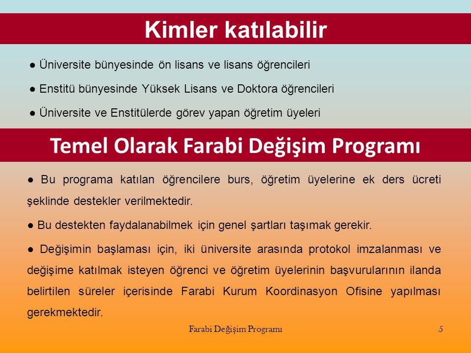 Temel Olarak Farabi Değişim Programı