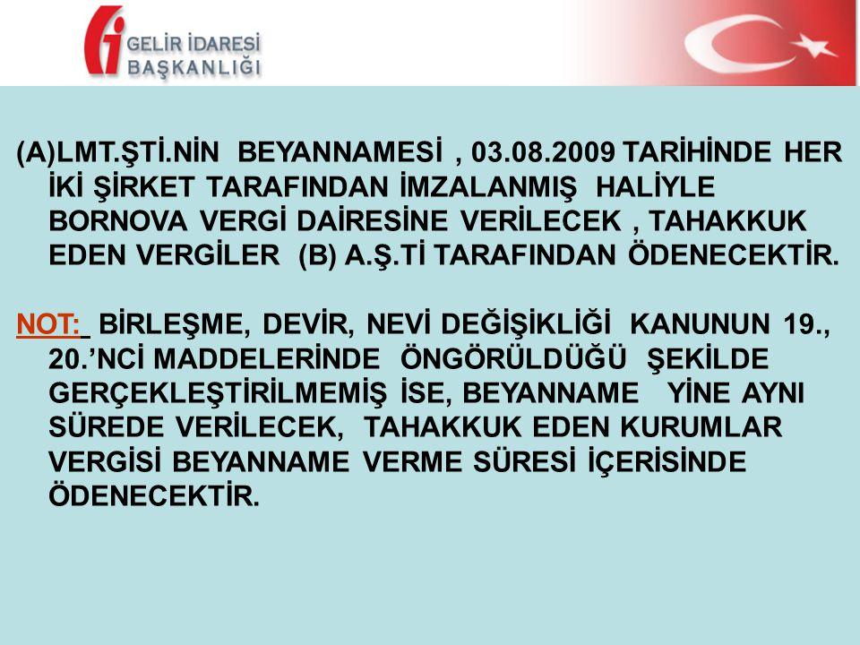 LMT. ŞTİ. NİN BEYANNAMESİ , 03. 08