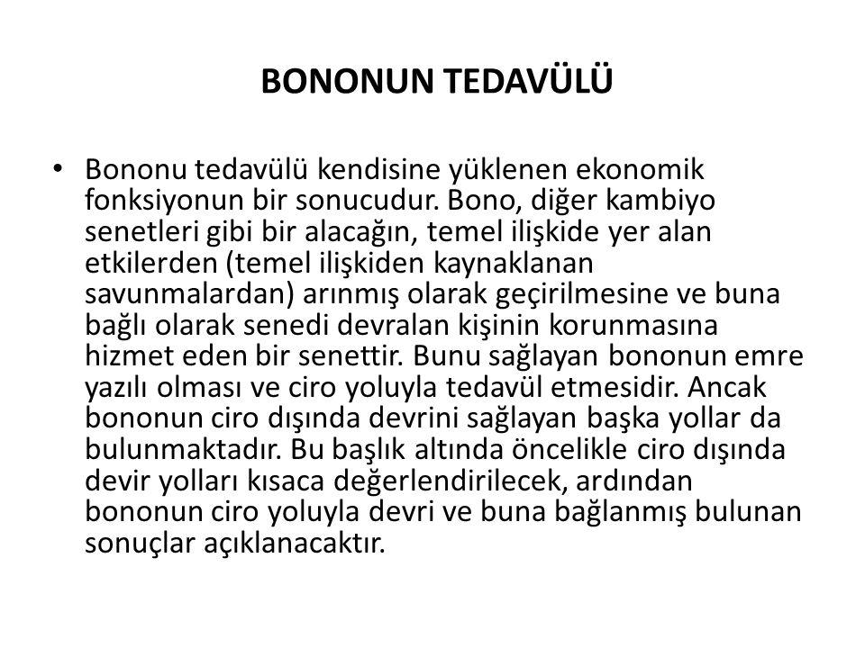 BONONUN TEDAVÜLÜ