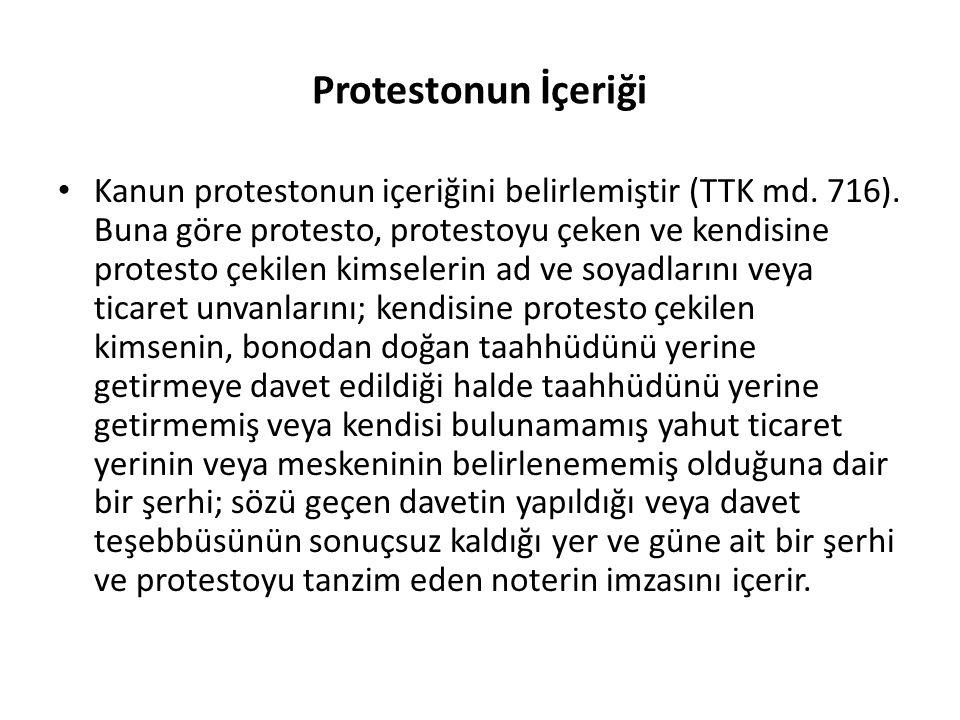 Protestonun İçeriği