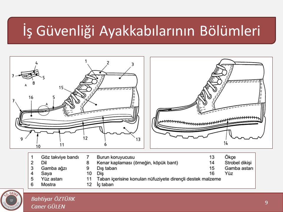 İş Güvenliği Ayakkabılarının Bölümleri