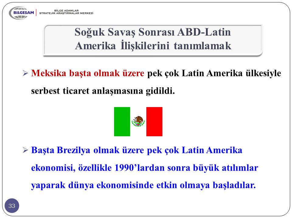 Soğuk Savaş Sonrası ABD-Latin Amerika İlişkilerini tanımlamak