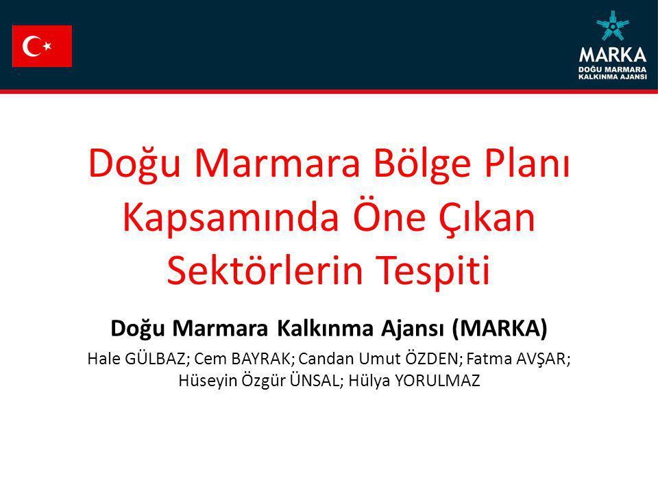 Doğu Marmara Bölge Planı Kapsamında Öne Çıkan Sektörlerin Tespiti