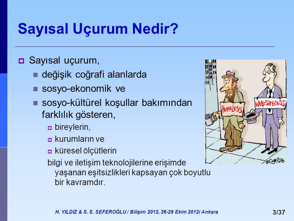 H. YILDIZ & S. S. SEFEROĞLU / Bilişim 2012, 26-29 Ekim 2012i Ankara