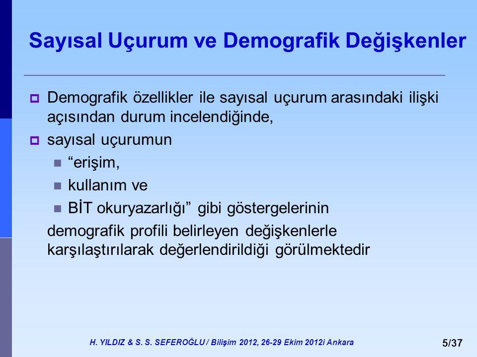 Sayısal Uçurum ve Demografik Değişkenler