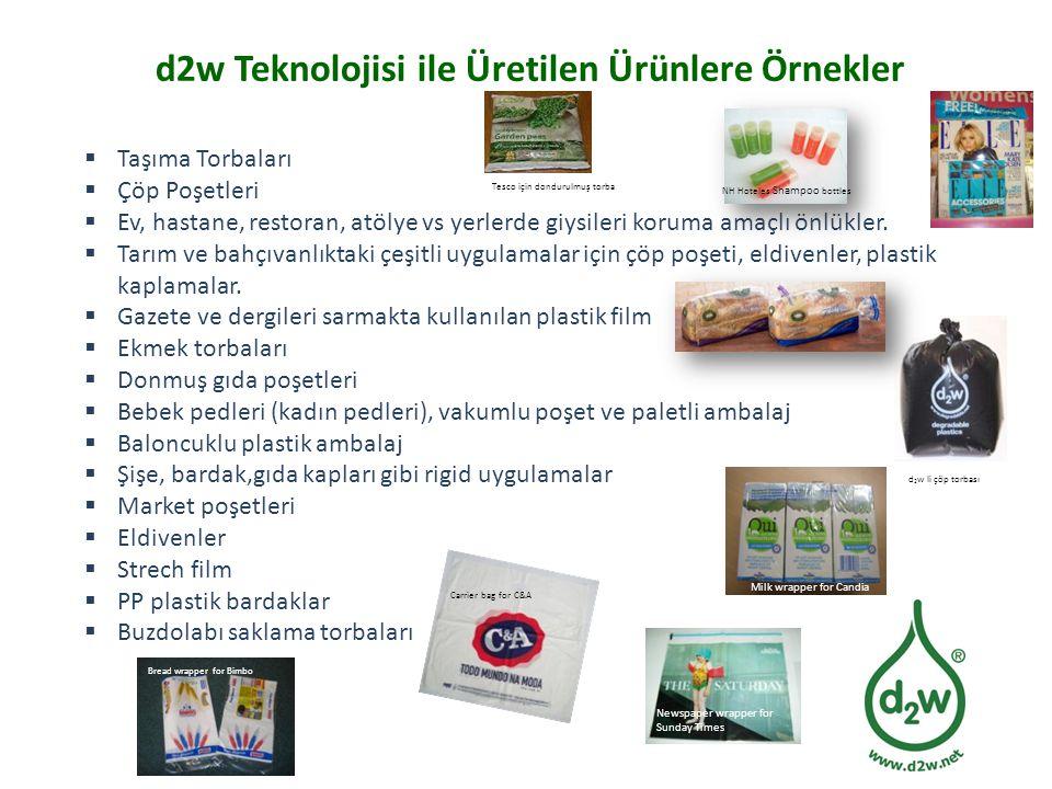 d2w Teknolojisi ile Üretilen Ürünlere Örnekler