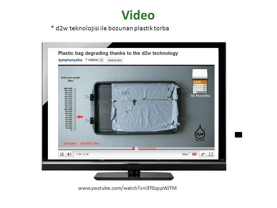 Video * d2w teknolojisi ile bozunan plastik torba