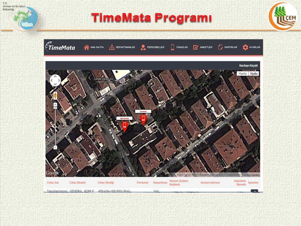 TimeMata Programı Düzeltme Butonu