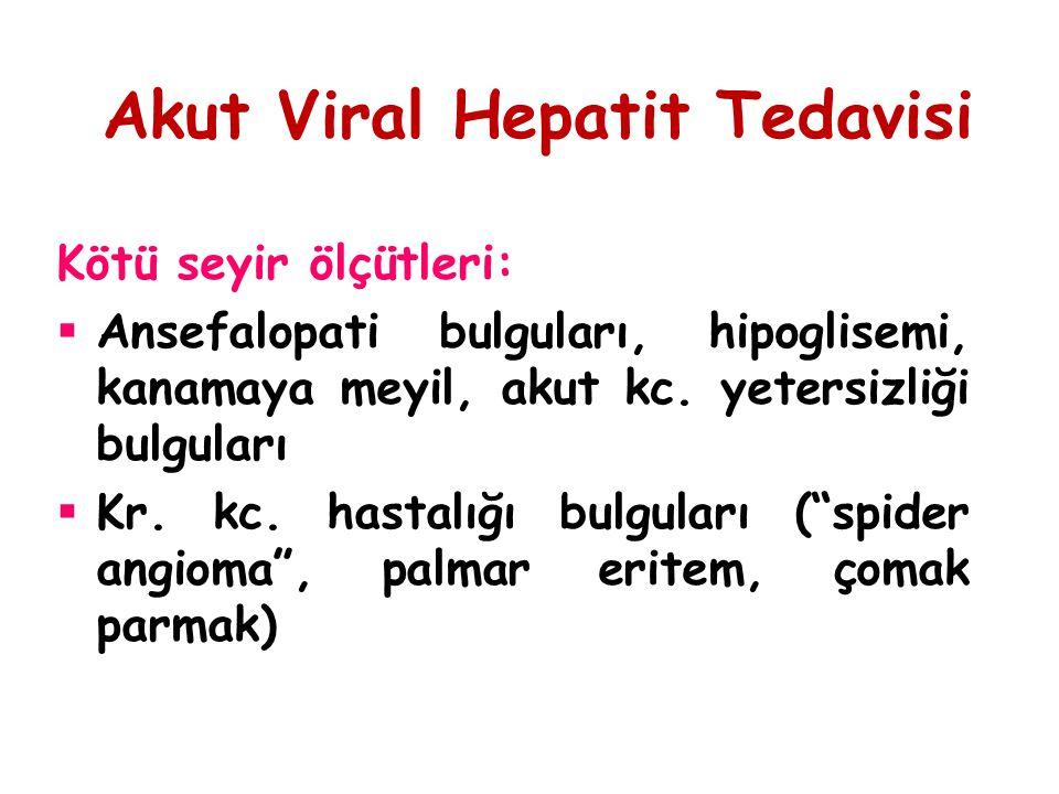 Akut Viral Hepatit Tedavisi