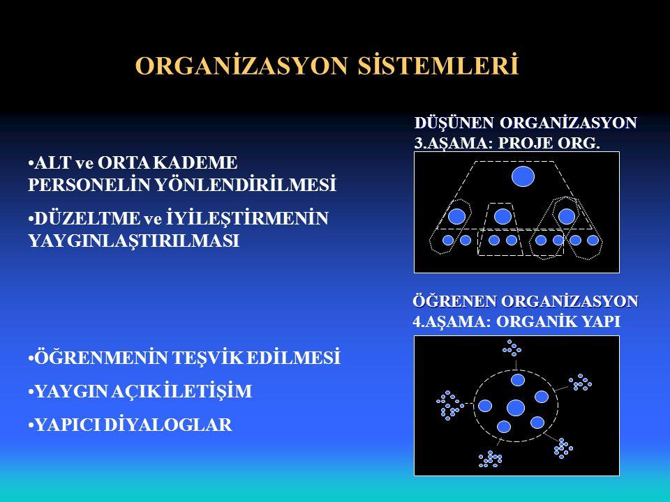 ORGANİZASYON SİSTEMLERİ