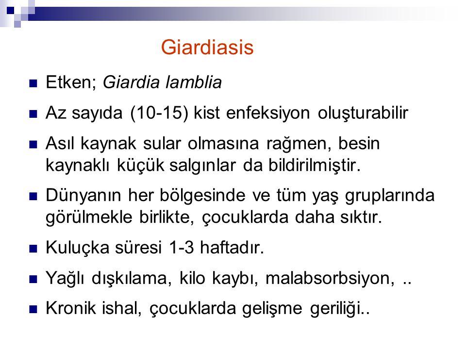 Giardiasis Etken; Giardia lamblia
