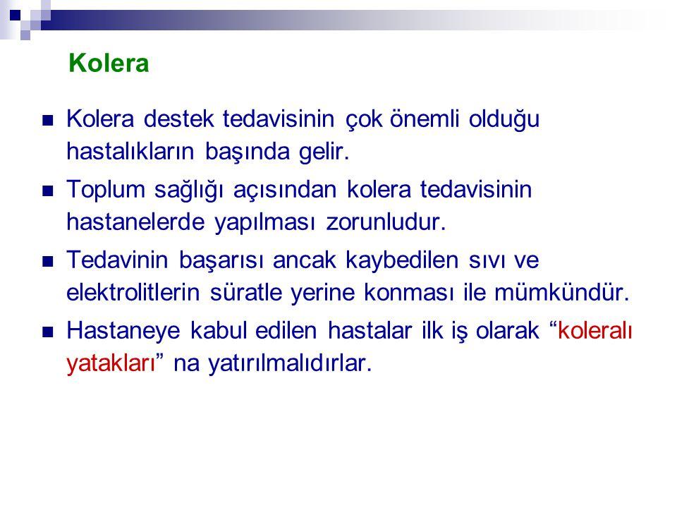Kolera Kolera destek tedavisinin çok önemli olduğu hastalıkların başında gelir.
