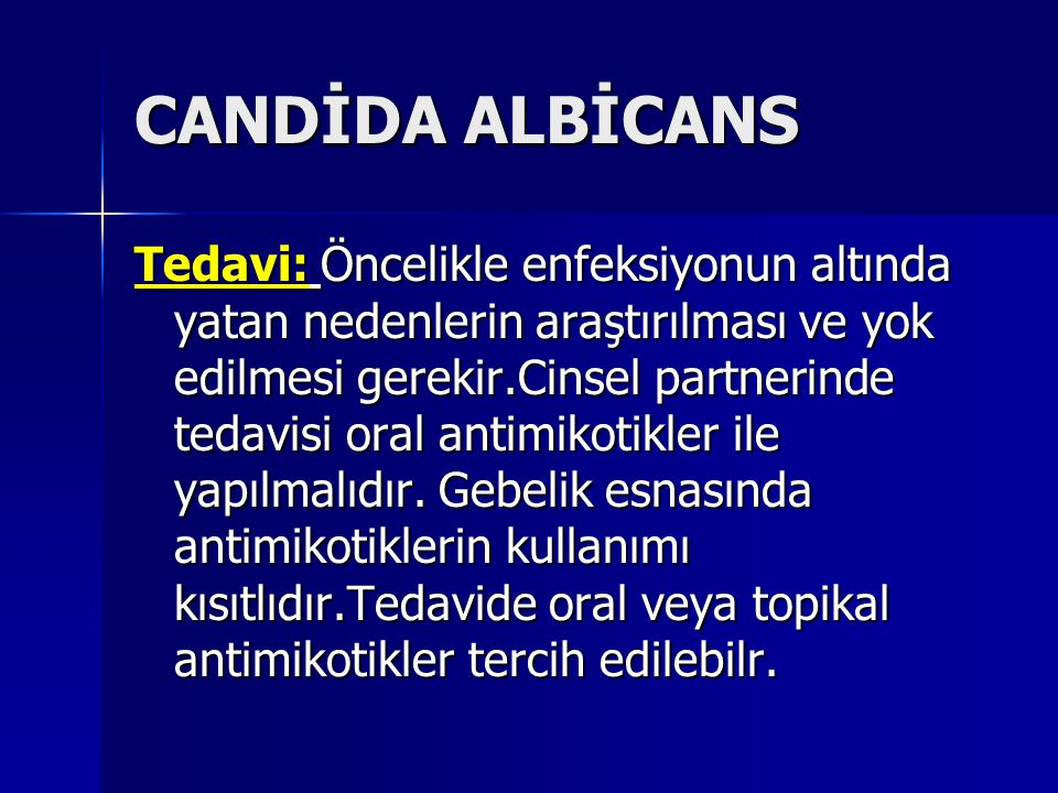 CANDİDA ALBİCANS