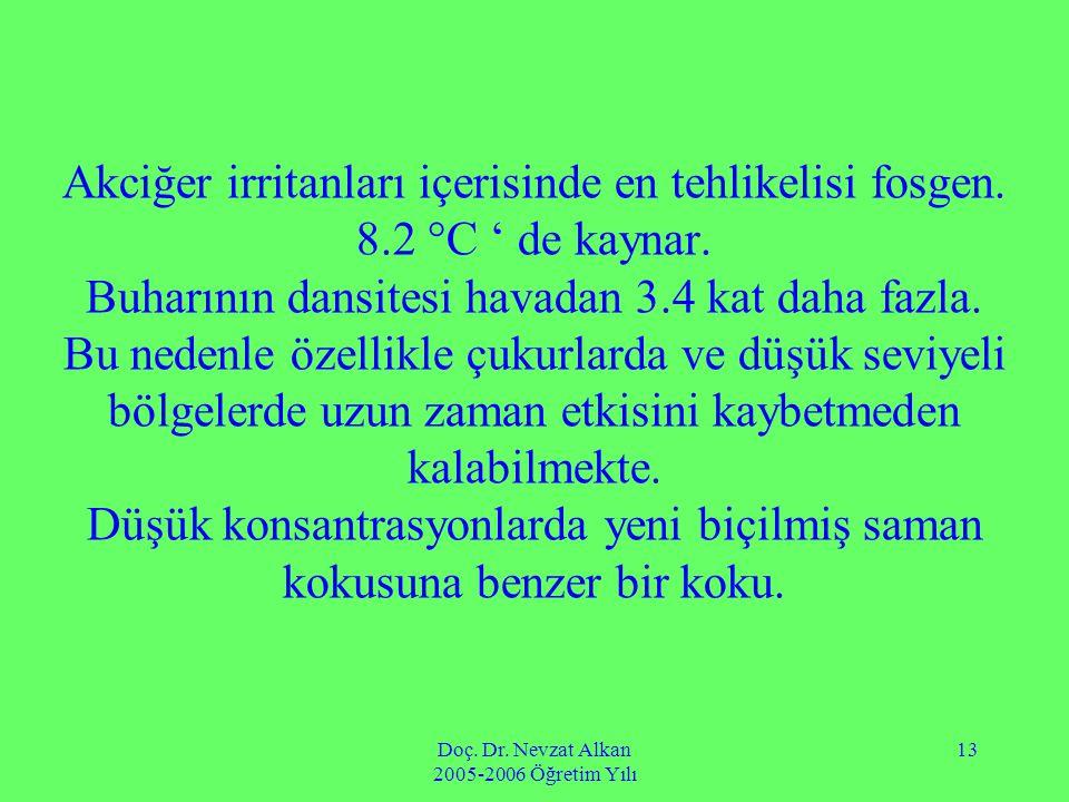Doç. Dr. Nevzat Alkan 2005-2006 Öğretim Yılı