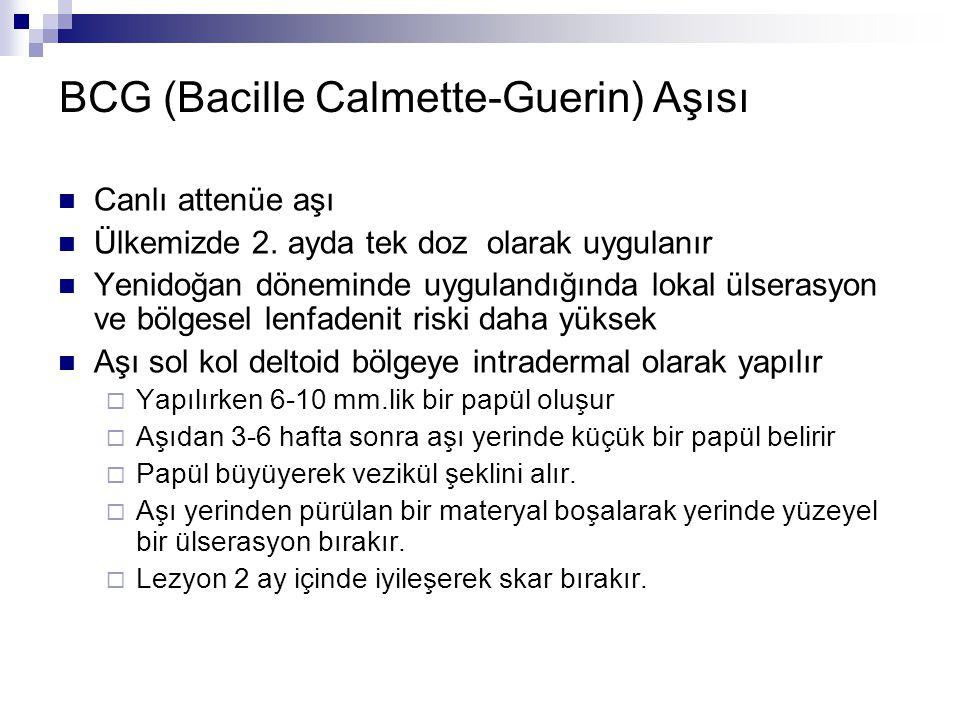 BCG (Bacille Calmette-Guerin) Aşısı