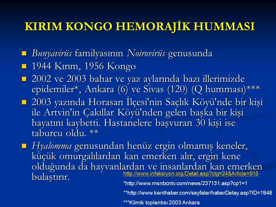 KIRIM KONGO HEMORAJİK HUMMASI