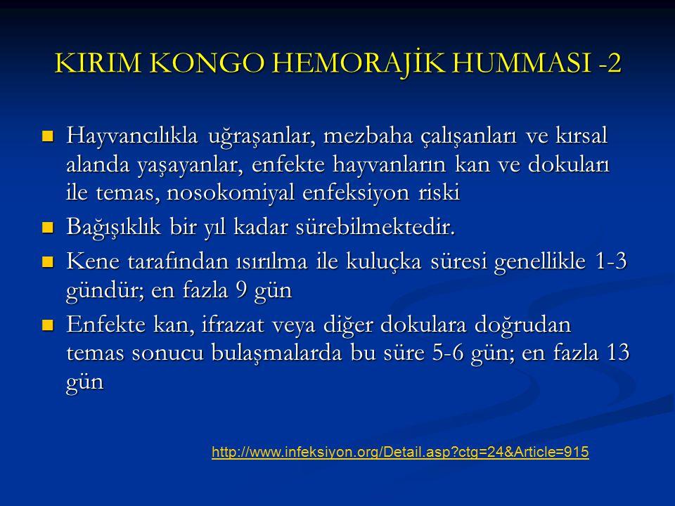 KIRIM KONGO HEMORAJİK HUMMASI -2