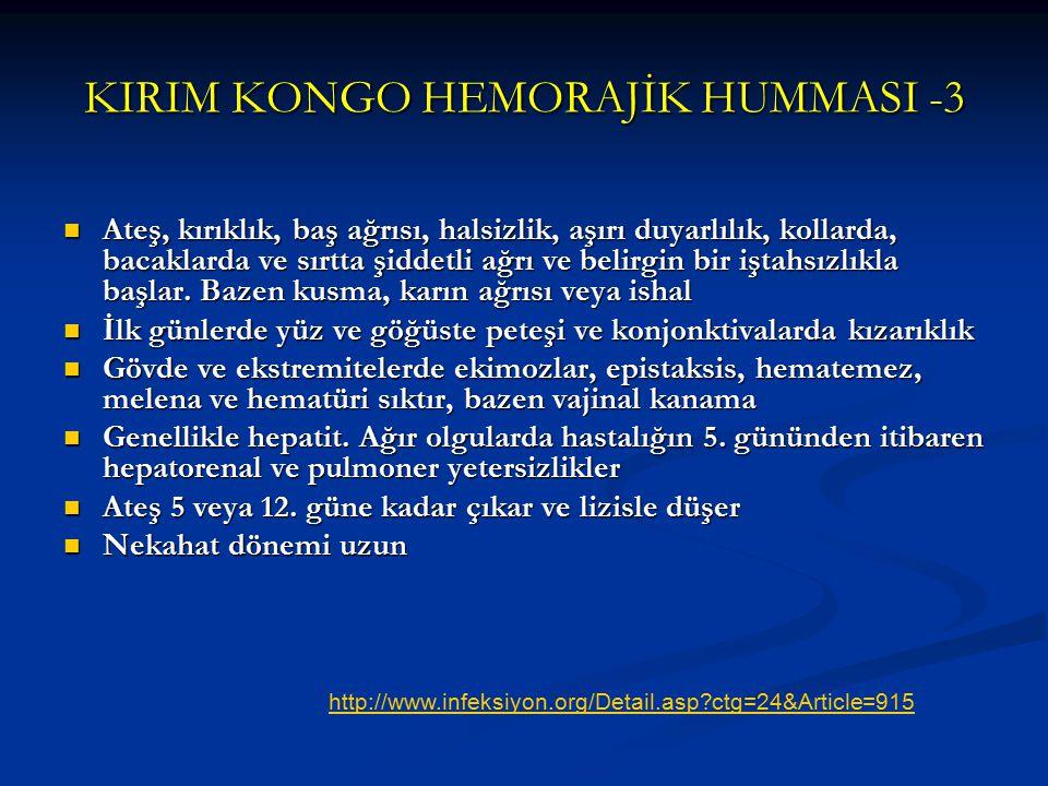 KIRIM KONGO HEMORAJİK HUMMASI -3
