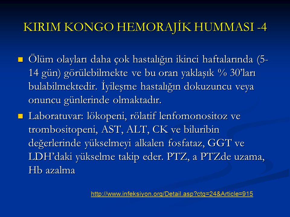 KIRIM KONGO HEMORAJİK HUMMASI -4