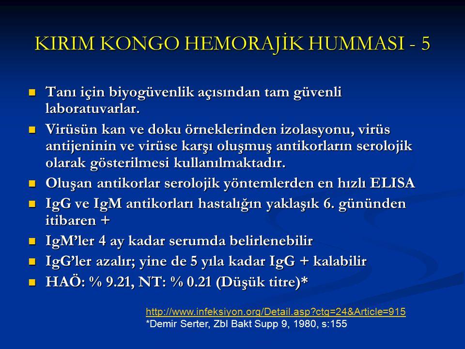 KIRIM KONGO HEMORAJİK HUMMASI - 5