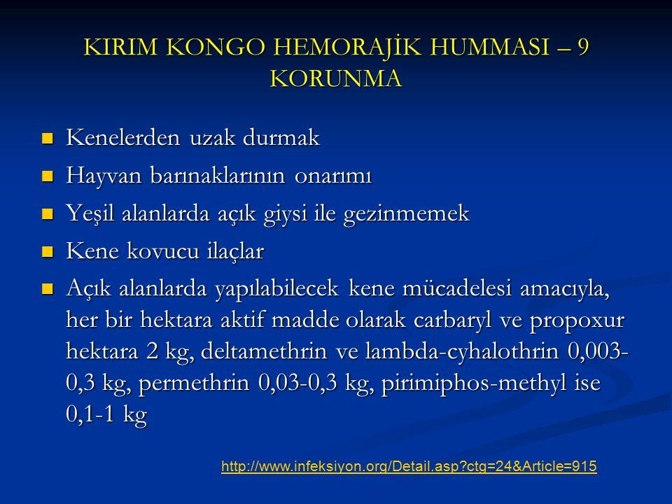 KIRIM KONGO HEMORAJİK HUMMASI – 9 KORUNMA