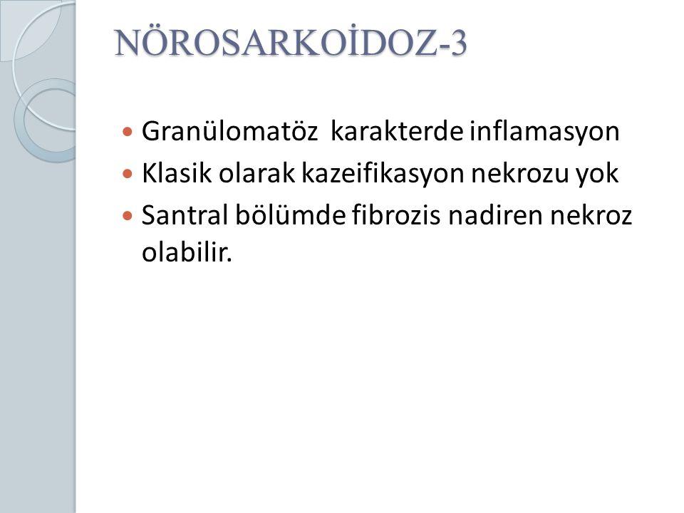 NÖROSARKOİDOZ-3 Granülomatöz karakterde inflamasyon